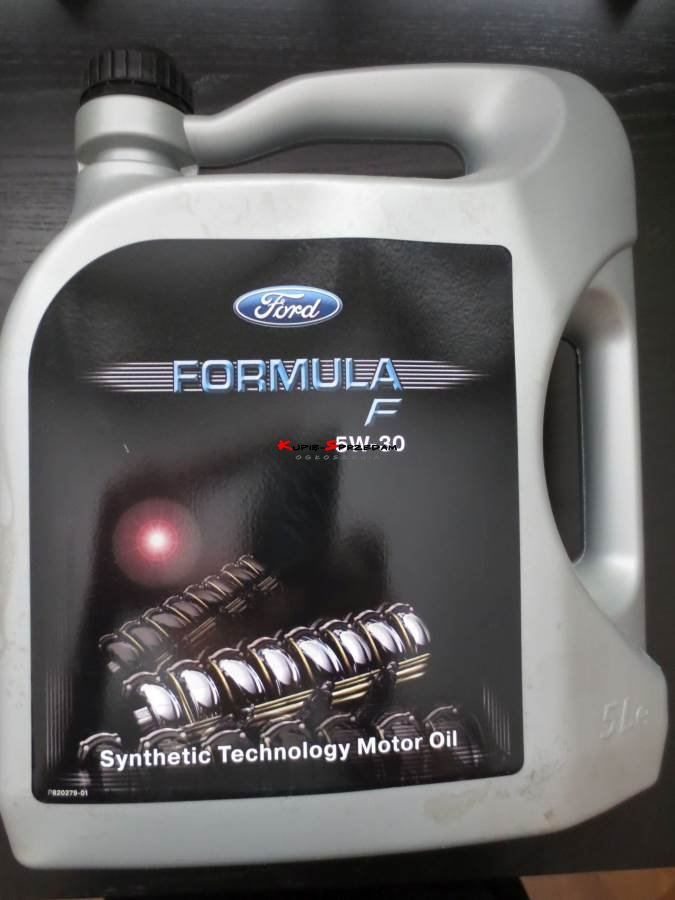Ford olej silnikowy 5w30 Formula F + Filtr oleju FoMoCo 1119421 EFL600 + filtr powietrza Focus Mk1 FoMoCo - 1072246 + filtr kabinowy z węglem aktywnym Focus Mk1 - 1121106